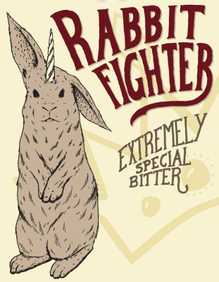 Rabbit Fighter 12oz Can